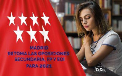 Madrid retoma la convocatoria de 2900 plazas para profesores