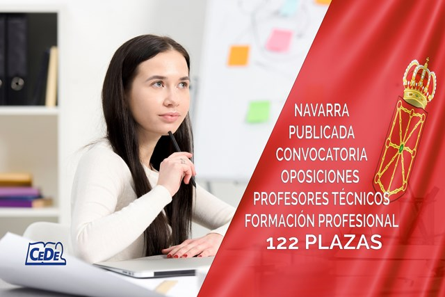 122 plazas de Profesores Técnicos de FP