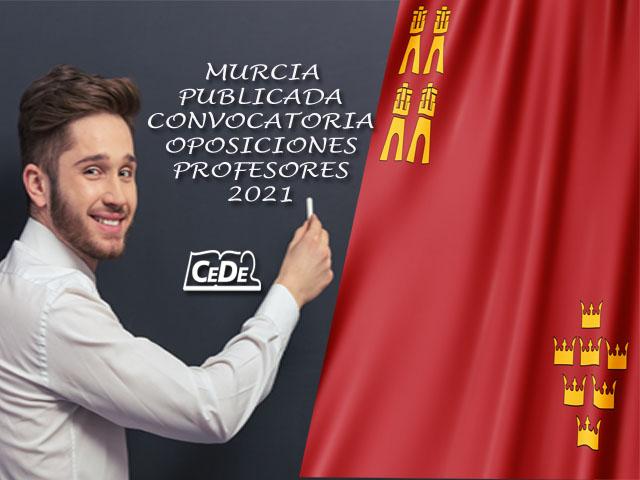 Murcia publicada convocatoria oposiciones profesores 2021
