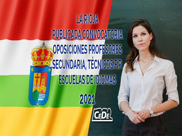 La Rioja publicada convocatoria oposiciones profesores