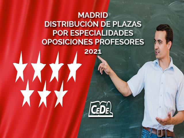 MADRID DISTRIBUCION DE PLAZAS