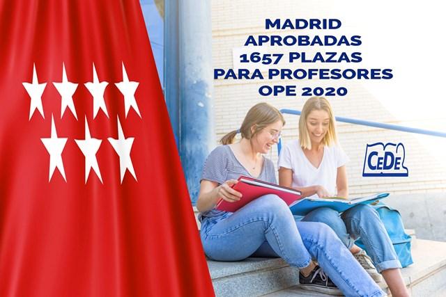 Madrid aprobadas 1657 plazas