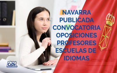 Navarra convocadas oposiciones profesores Escuelas de Idiomas