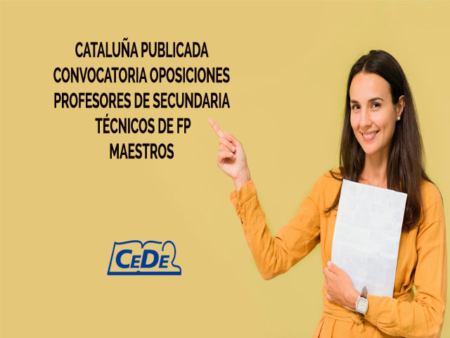 Cataluña publicada convocatoria oposiciones profesores 2021