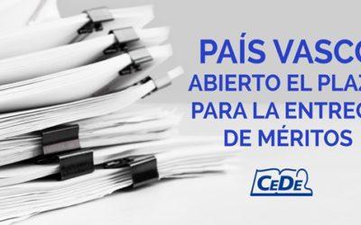 País Vasco plazo para la entrega de méritos