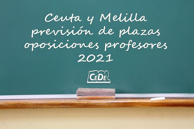 Ceuta y Melilla previsión de plazas oposiciones profesores 2021
