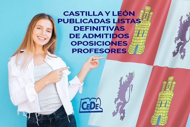 Castilla y León listas definitivas de admitidos oposiciones profesores