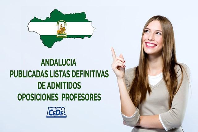 Andalucía publicadas listas definitivas oposiciones profesores