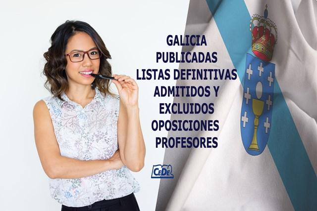 Galicia publicadas listas definitivas admitidos oposiciones profesores