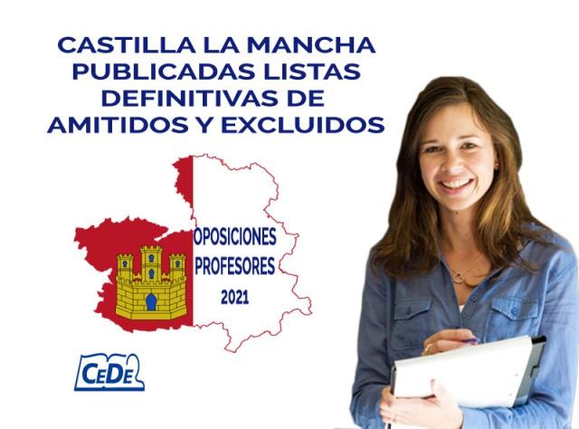 Castilla la Mancha publicadas listas definitivas oposiciones profesores