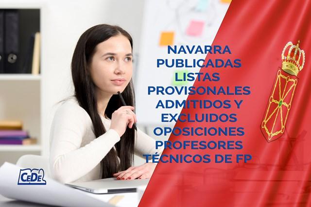 Navarra publicadas listas provisionales oposiciones profesores técnicos F.P.
