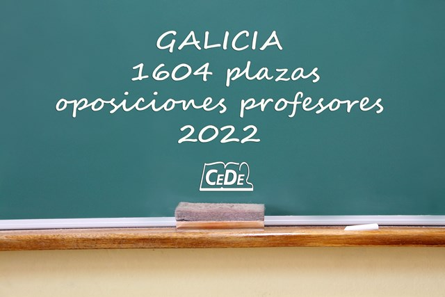 Galicia convocará 1604 plazas para profesores en 2022