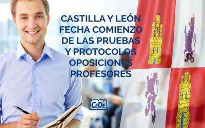 Castilla y León, fechas comienzo de las pruebas