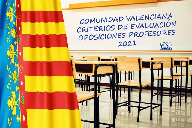 Comunidad Valenciana criterios de evaluación de las oposiciones