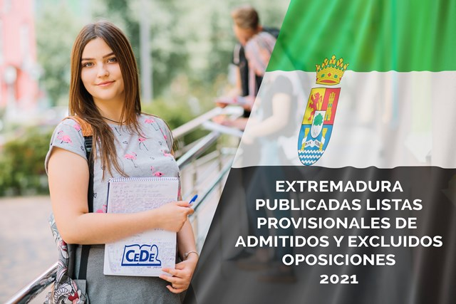 Extremadura publicadas listas provisionales oposiciones profesores