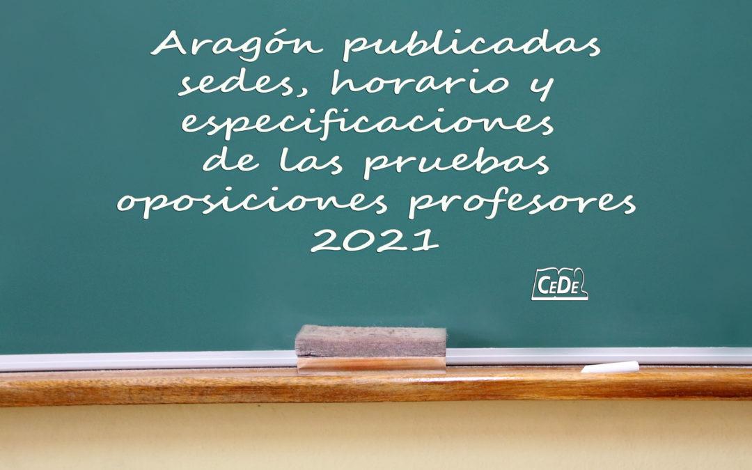 Aragón publicadas sedes, horario y especificaciones de las pruebas