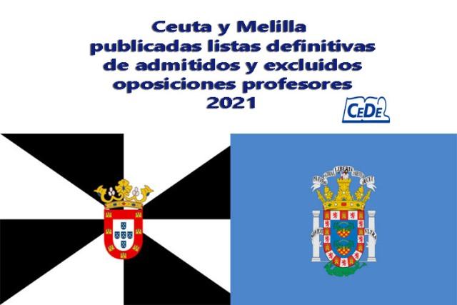 Ceuta y Melilla publicadas listas definitivas oposiciones profesores