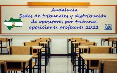 Andalucía publicados tribunales, fecha y lugares de examen