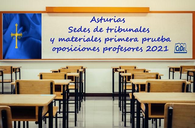 Asturias sedes tribunales y materiales primera prueba