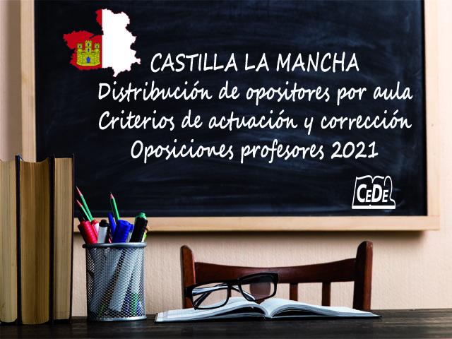 Castilla la Mancha distribución de opositores por tribunal