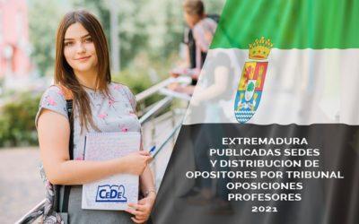 Extremadura publicadas sedes y distribución de opositores